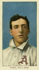 1909 11 T206 White Border Eddie Plank baseball card