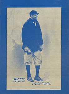 1914 Baltimore News 9 Babe Ruth baseball card