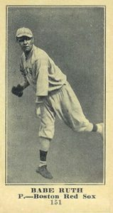 1916 M101 5 Sporting News Babe Ruth rookie card