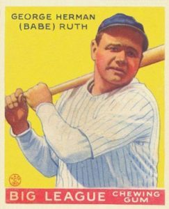 1933 Goudey 53 Babe Ruth baseball card