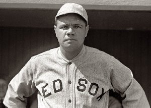Babe Ruth won 13 games for the Red Sox in 1918, and led the AL in homers and slugging as a hitter.