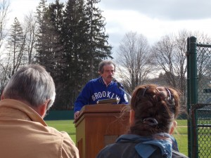 John Thorn speaks on Bud Fowler Day at Doubleday Field