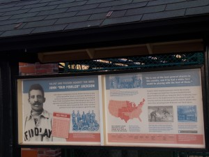 Bud Fowler display at Doubleday Field