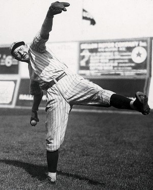 Dazzy Vance put on a show by striking out five of the game's top sluggers, including Babe Ruth twice.