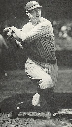 Yankees center fielder Earle Combs enjoyed a banner day with four hits and five runs batted in.