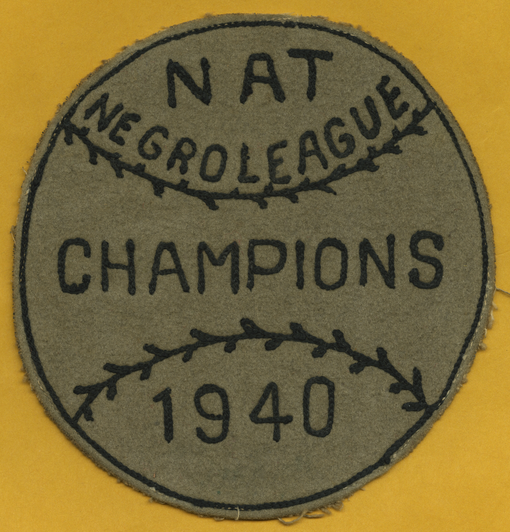 1940 NNL championship patch belonging to Wilmer Fields.