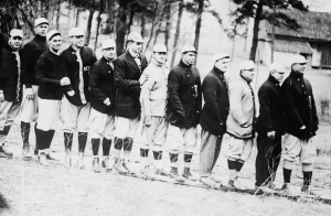 The Boston Red Sox, shown in 1912, are one of many teams that traveled to Hot Springs for formal and informal spring training in the early part of the 20th century. [Library of Congress, Prints & Photographs Division]