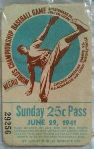 Kansas City Monarchs Chicago American Giants June 29 1941