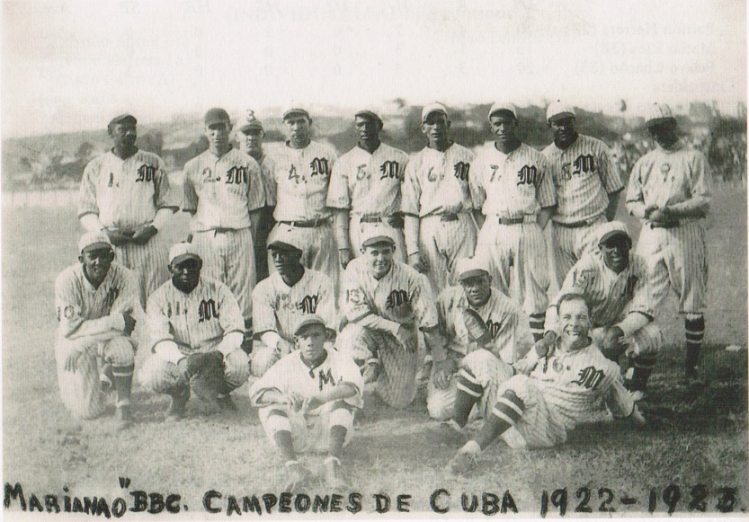 The Marianao club, champions of the 1922-23 Cuban League.