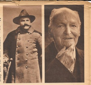 Unattributed photo from The Sunday Sun Magazine showing Private McComas and as he appeared in 1949.