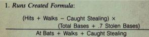 Runs Created Formula