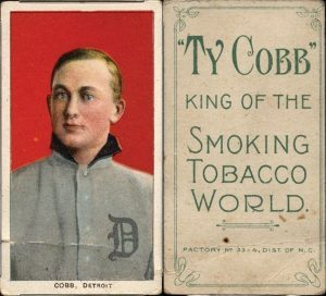 T206 Ty Cobb baseball card Ty Cobb back