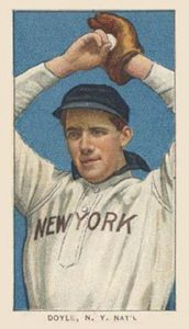 T206 White Border Joe Doyle N.Y. Natl. baseball card