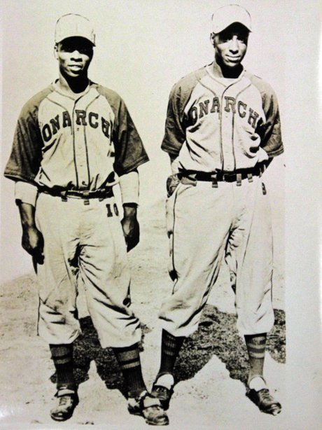 Willard Brown & Ted Strong of the Kansas City Monarchs.