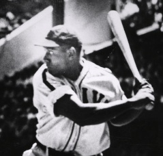 Buck Leonard at bat.