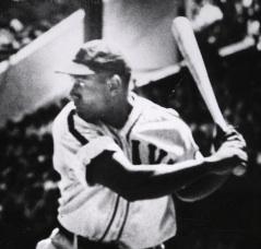 Buck Leonard at bat.