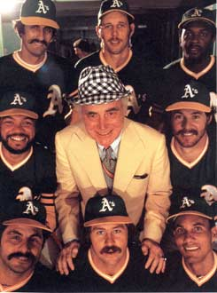 "Charie Finley and his ""Mustache Gang"" circa 1974"