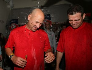 Tery Francona and Theo Epstein