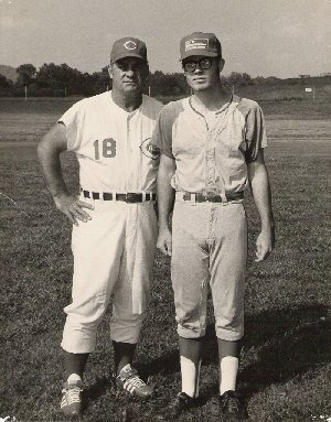 Ted Kluszewski and Greg Howell in 1971