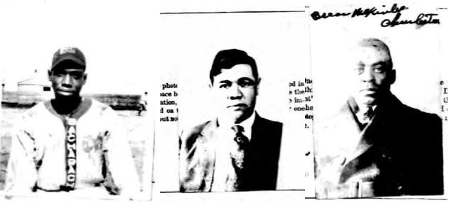 1920 passport photos for Dick Lundy, Babe Ruth, and Oscar Charleston.