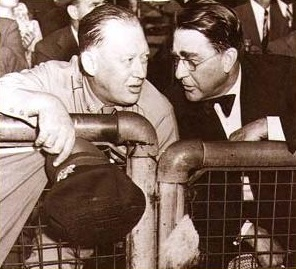 Larry MacPhail (left) and Branch Rickey.