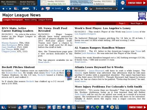 OOTP 12 News