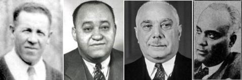 Cumberland Posey, Gus Greenlee, Rafael Trujillo, Alejandro Pompez