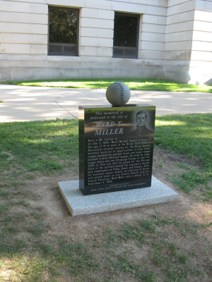 Front of Ward Miller Monument